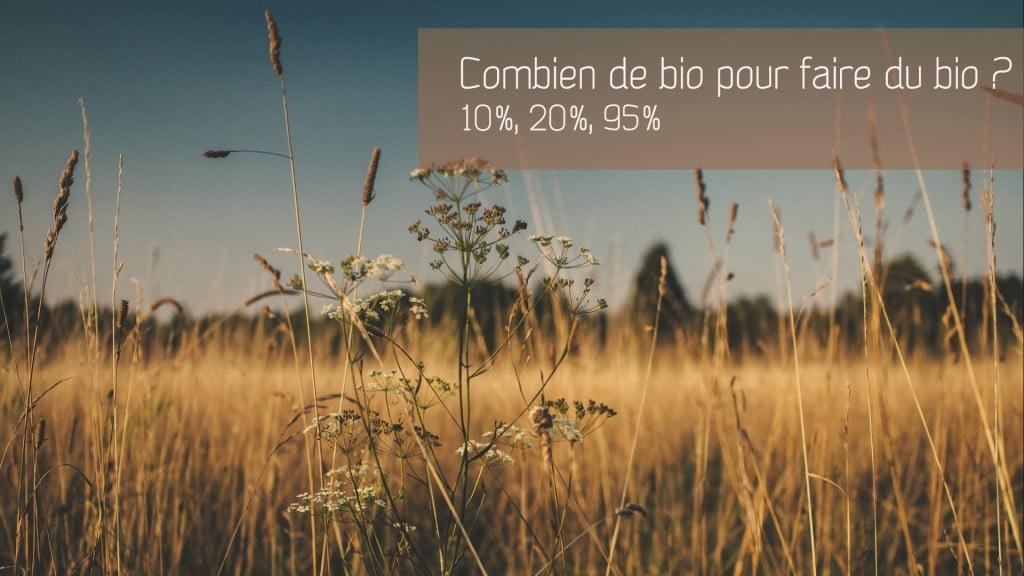 Combien de bio faut-il pour faire un cosmétique bio ?