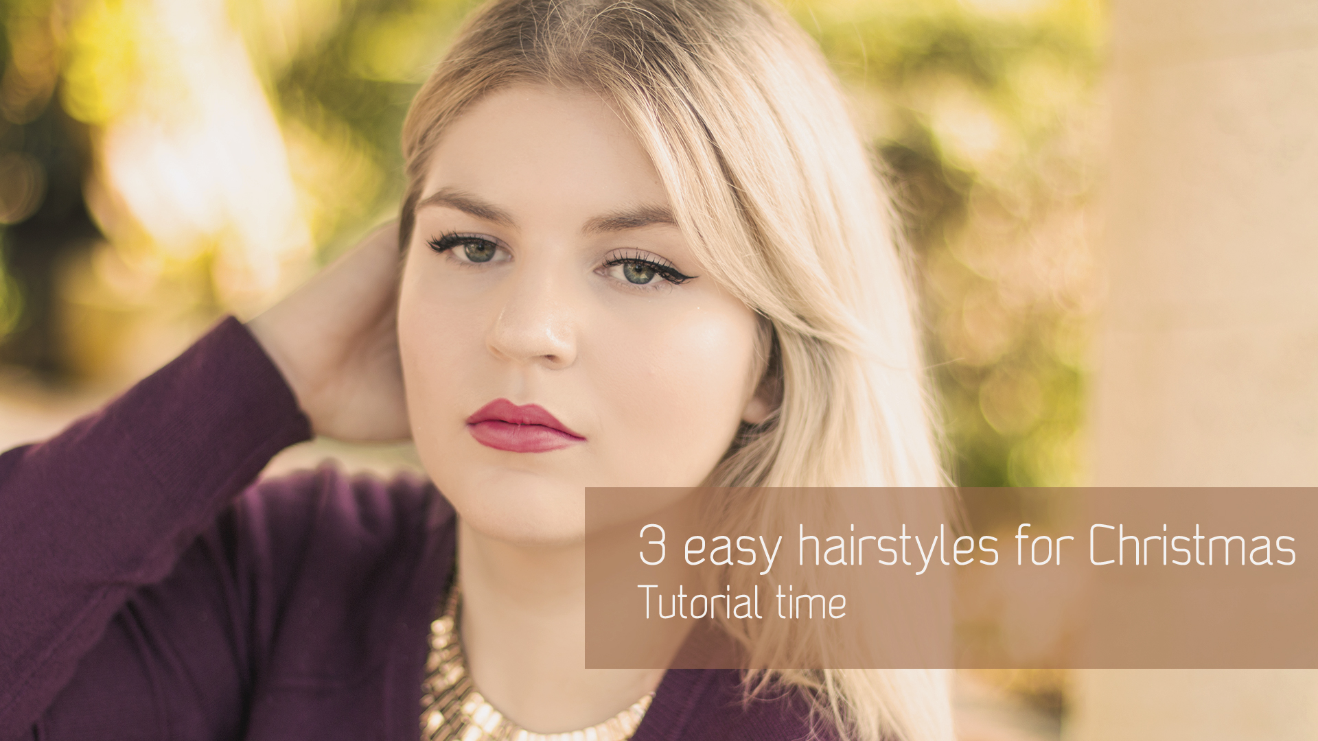 3 chic & easy hairstyle ideas for Christmas