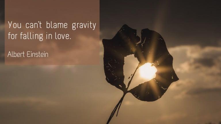 Albert Einstein - Love and gravity