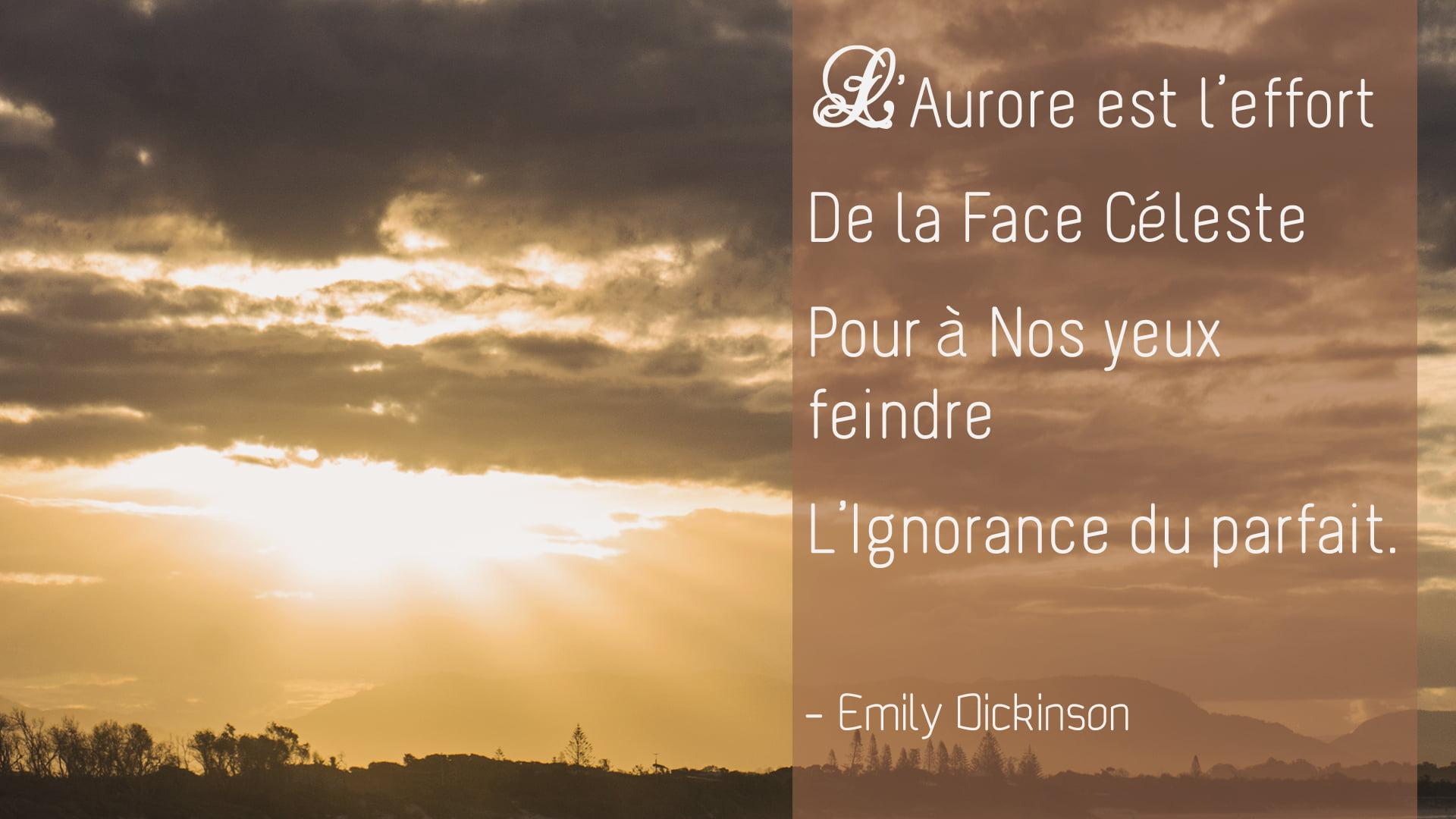 Emily Dickinson – L'aurore