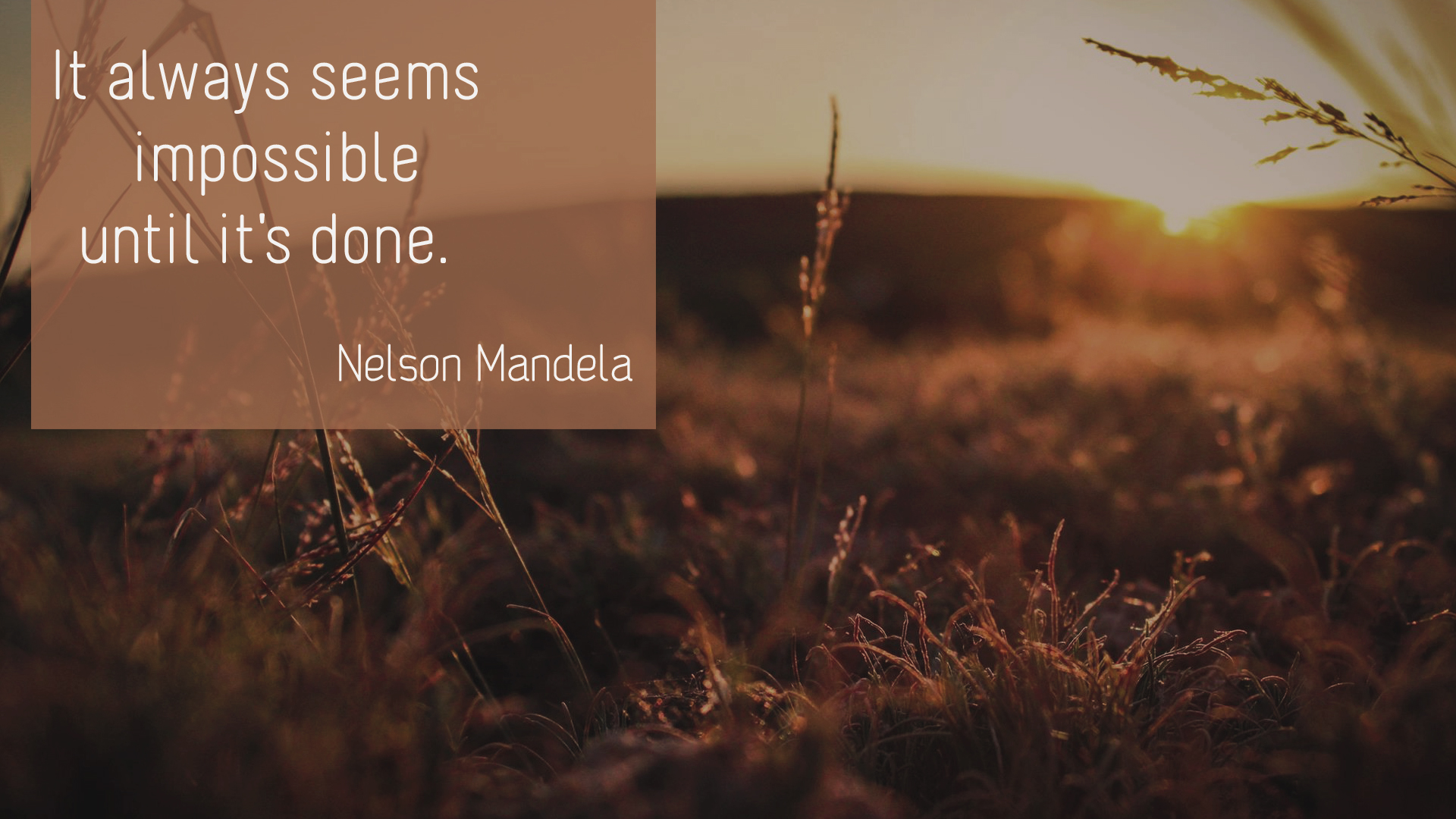 Nelson Mandela – The impossible