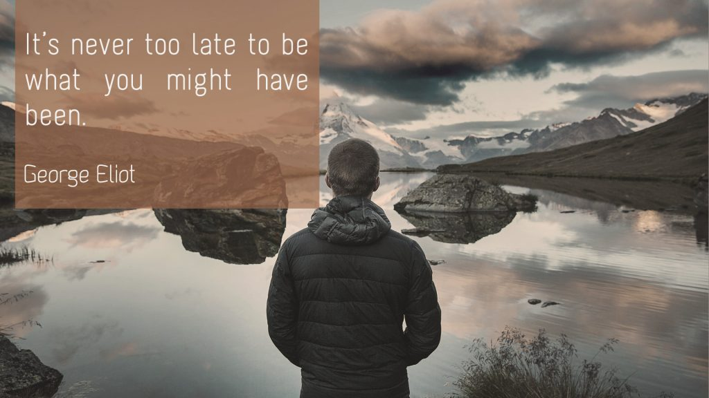 George Eliot – It is never too late