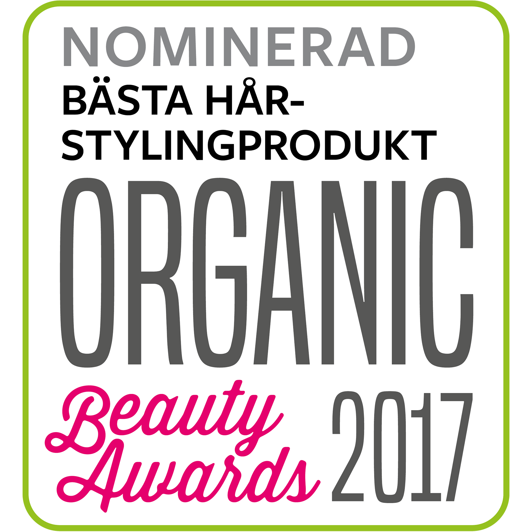 Organic Beauty Awards | Nomination